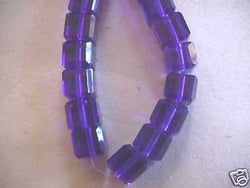 Cobalt Blue Celestial Crystal Cube Beads 8mm 16pc