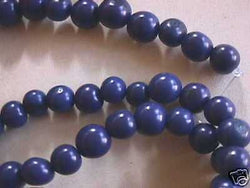 Indigo Blue Tagua Nut Wood Beads 8mm 10mm 25pc