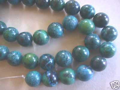Blue Green Yellow Turquoise Beads 18mm 16""