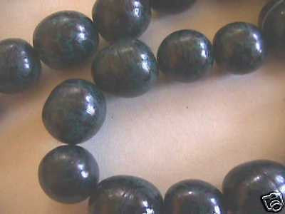 Indigo Blue Green Tagua Nut Wood Beads 18mm 20mm