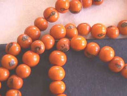 Orange Tagua Nut Wood Beads 8mm 10mm 12mm Round 20pc