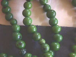 Palm Green Tagua Nut Wood Beads 8mm - 12mm  Round  20pc