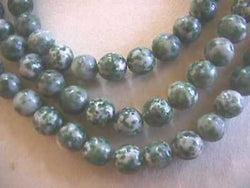 Tree Green Spot Agate Natural Gemstone Beads 8mm 16""