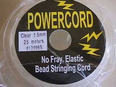 1mm Clear Powercord Best Beading Elastic Cord 75ft