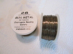 28 Gauge Gun Metal Craft Bead Wire 120 feet