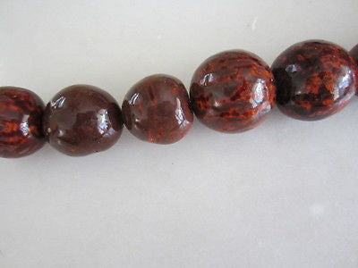 Brown Black Gold Batik Tagua Nut Wood Beads 18mm 20mm  9pc