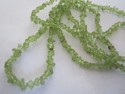 "Lime Green Peridot Semi Precious Mini Chips 35"" Strand"