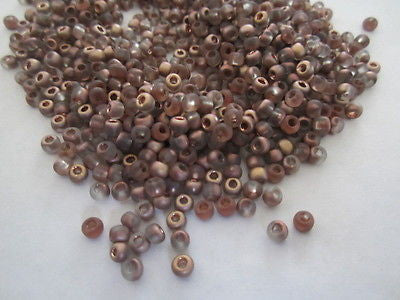 6/0 Crystal Matte Frost Copper Apollo Toho Seed Beads