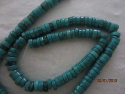 Natural Turquoise Aqua Blue Heishi Disc Beads 6mm 16""