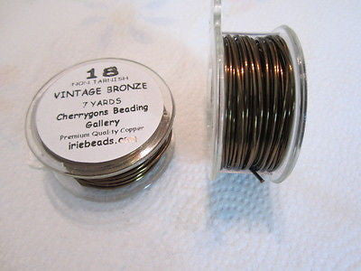 18 Gauge Anitque Bronze   Bead Craft Wire 21 ft