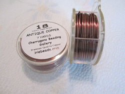 Antique Copper 18 Gauge Bead Craft Wire 21 ft
