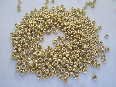 8/0 Gold Galvanized Metallic Permanent Finish Toho Seed Bead