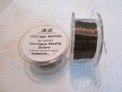 32 Gauge Antique Bronze Craft Bead Wire 150 feet