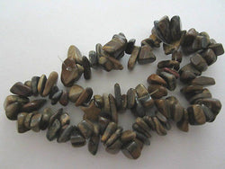 Natural Tiger Eye Semi Precious Stone Chips 36""