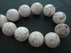 Natural White Magnesite Beads 20mm 16""