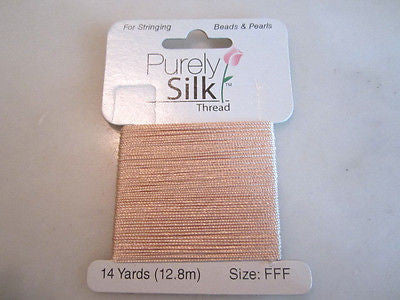 Simply Silk 3 ply Pink Silk Beading FFF Thread 42ft .