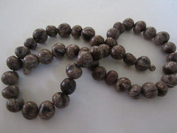Natural and Brown Batikan Seed Wood Beads 8mm to 10mm 16""