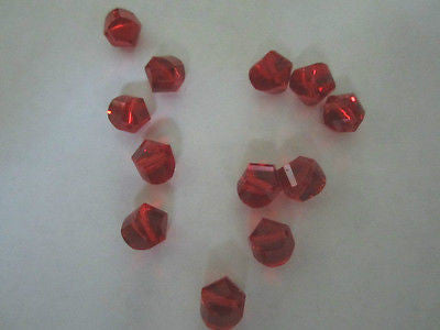 Ruby Red Celestial Crystal Twisted Round Nugget Beads 10mm 16pc