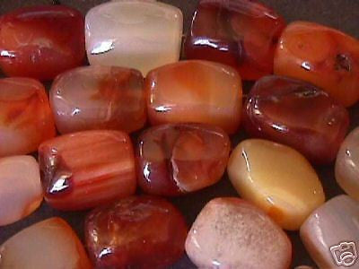 Red Rust Orange Agate Stone X Large Nugget Beads 5pc