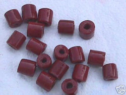 Red Brown Tube Beads 8mm 4 Hemp Purse Handle 4mm Hole