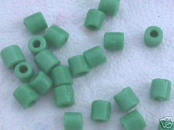 Teal Green Tube Beads 10mm Hemp Purse Handle 4mm Hole