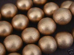 Gold Metallic 20mm Jumbo Round Wood Beads 16""
