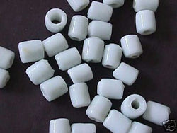 White Tube Beads 10mm 4 Hemp Purse Handle 3mm Hole
