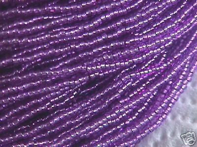 11/0 Orchid Purple Ice Silver Lined Czech Seed Beads