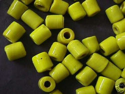 Yellow Tube Beads 10mm 4 Hemp Purse Handle 3mm Hole