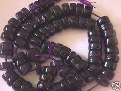 "Natural Purple Amethyst Heshi Disc Beads 9mm 16"" A"