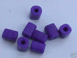 Royal Blue Big Hole Cube Tube Beads 20mm Macrame 4 Hemp