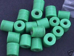 Teal Green Tube Beads 14mm Hemp Purse Handle 4mm Hole