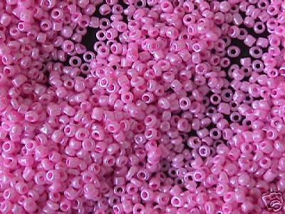 11/0 Bubble Gum Pink SIlk Pearl Seed Beads