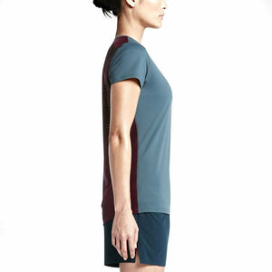 Nikelab Women's Gyakusou Dri-Fit Racer Top - Slate Blue/Velvet Brown