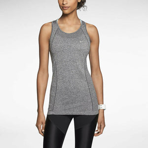 Nike Dri-FIT Knit Women's Running Tank Top - Grey