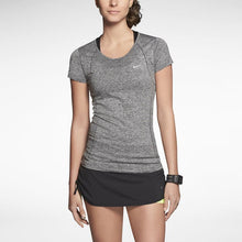 Load image into Gallery viewer, Nike Dri-FIT Knit Short-Sleeve Women's Running Shirt - Grey