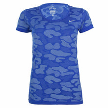 Load image into Gallery viewer, Nike Women's Dri Fit Knit Contrast Short Sleeve Running T-Shirt- Deep Royal Blue