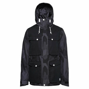 CLWR COLOUR WEAR LOAD SKI/SNOWBOARD JACKET BLACK/GREY SIZE SMALL LARGE PICTURE