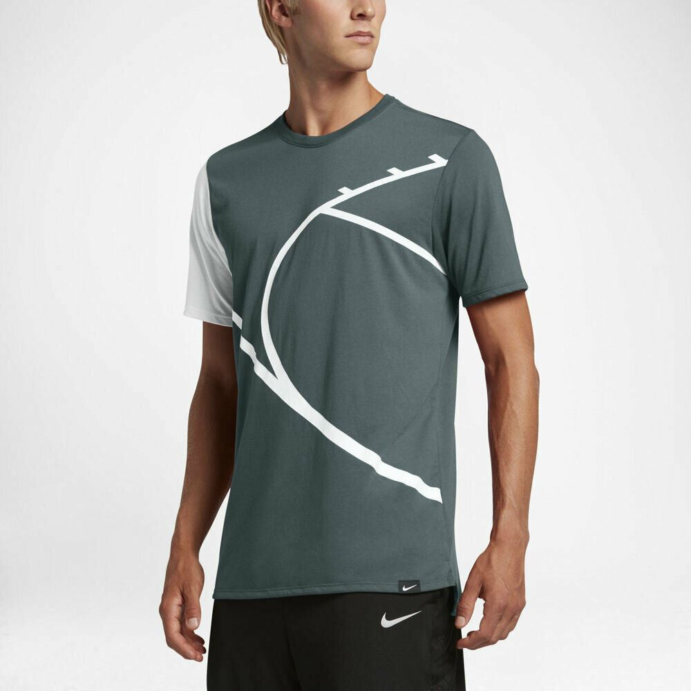 Nike Men's Court Graphic T-Shirt - Hasta/White
