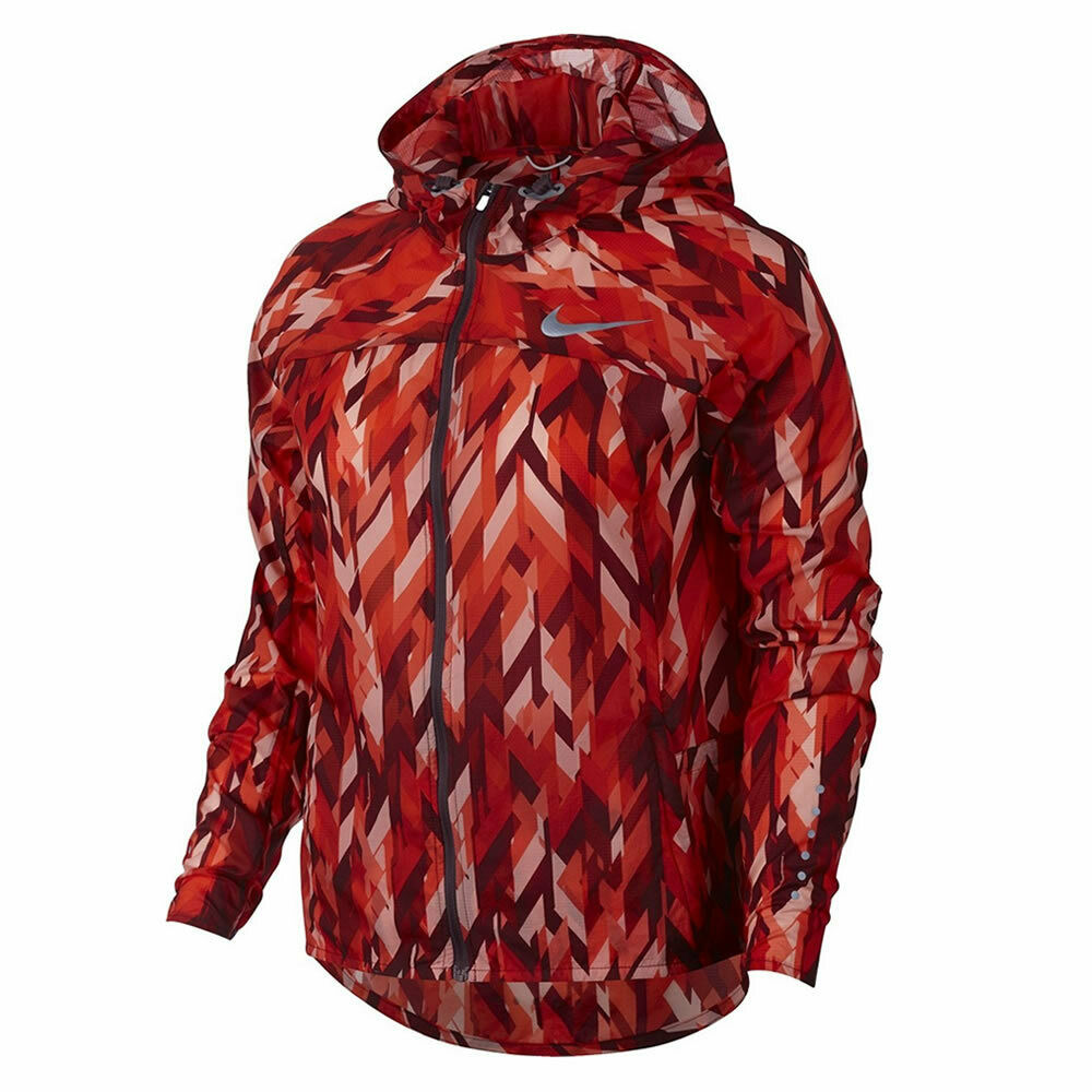 NIKE WOMENS IMPOSSIBLY LIGHT PRINT LIGHTWEIGHT RUNNING JACKET SIZE XS S M MAROON