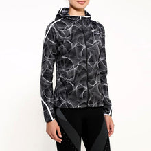 Load image into Gallery viewer, Nike Women's Shield Impossibly Light Running Jacket - Black/White