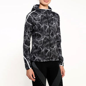 Nike Women's Shield Impossibly Light Running Jacket - Black/White