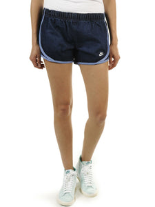 NIKE TEMPO WOMEN'S VINTAGE DENIM SHORTS GYM FITNESS RUNNING