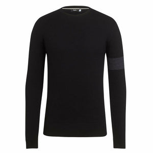 Rapha Men's Merino Knit Crew Neck Sweater - Black