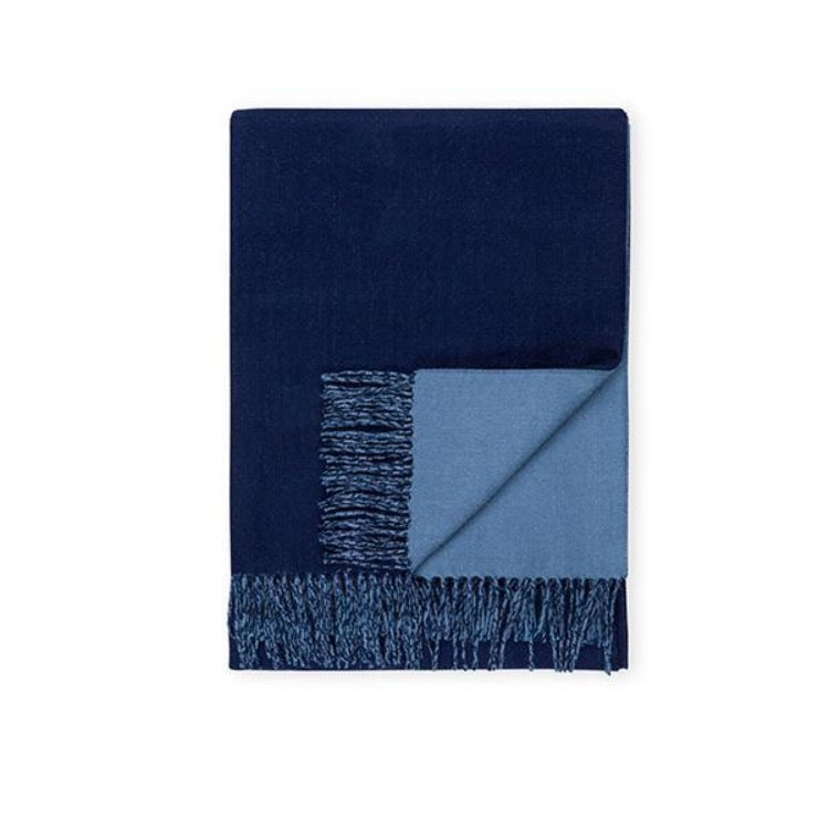 REVERSIBLE THROW - NAVY/PERIWINKLE
