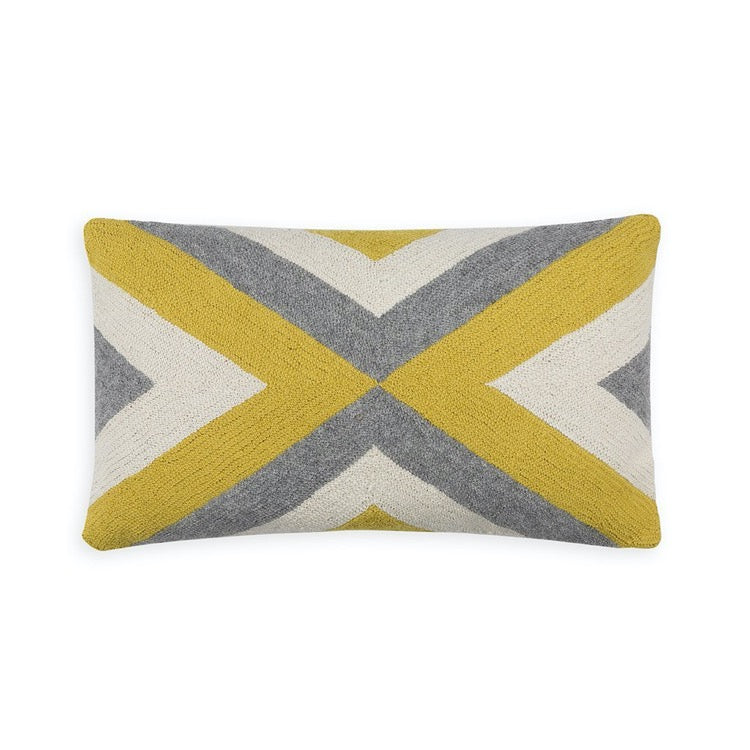 PILLOW IN GRINDA - CITRUS/GREY