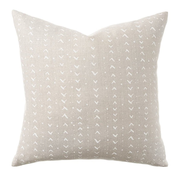 PILLOW IN TITIK - WHITE ON NATURAL
