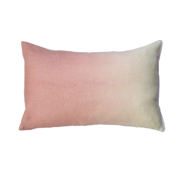 PILLOW IN DIP DYED - DUSTY ROSE