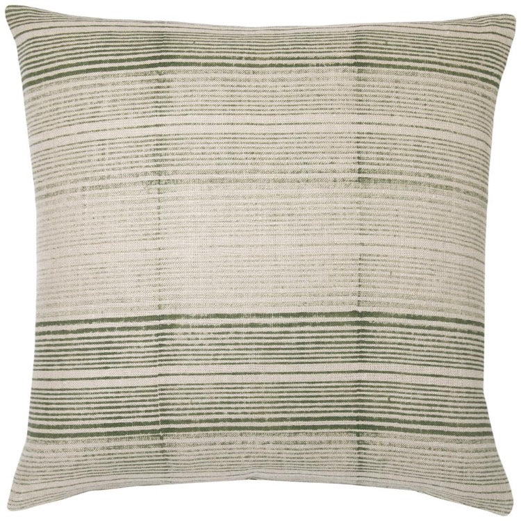 PILLOW IN STRIPES - SHADES OF OLIVE