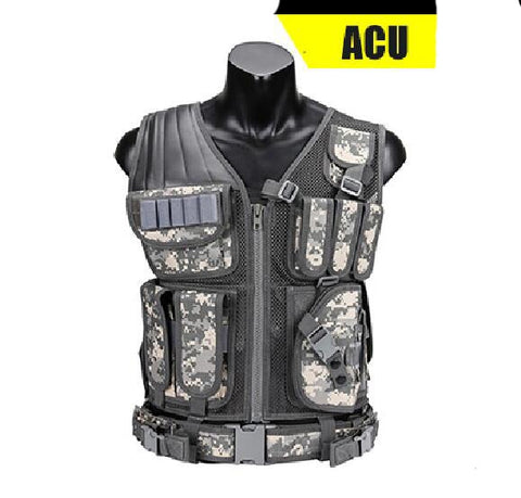 ACU Military Tactical Hunting Vest With Holster